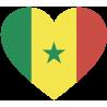 Сердце Флаг Сенегала (Сенегальский Флаг в форме сердца)