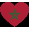 Сердце Флаг Марокко (Марокканский Флаг в форме сердца)