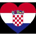 Сердце Флаг Хорватии (Хорватский Флаг в форме сердца)