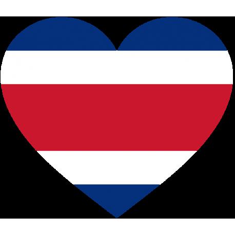 Сердце Флаг Коста-Рика (Костариканский Флаг в форме сердца)
