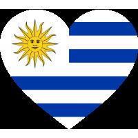 Сердце Флаг Уругвая (Уругвайский Флаг в форме сердца)