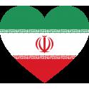 Сердце Флаг Ирана (Иранский Флаг в форме сердца)