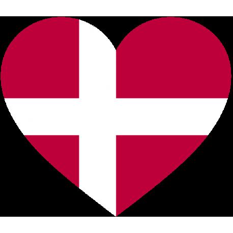 Сердце Флаг Дании (Датский Флаг в форме сердца)