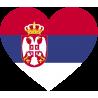 Сердце Флаг Сербии (Сербский Флаг в форме сердца)