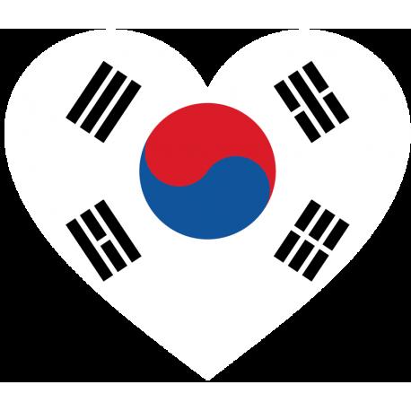 Сердце Флаг Кореи (Корейский Флаг в форме сердца)