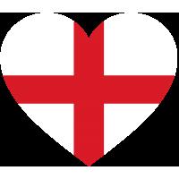Сердце Флаг Англии (Английский Флаг в форме сердца)