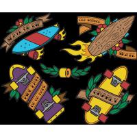 Набор Винтажный Скейт Рыбка Лонгборд