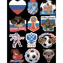 Набор Стикеры Чемпионат Мира Медведь Флаг Сердце Мяч Волк