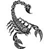 Скорпион Узор Тату В Стиле Маури