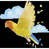 Граненые Животные: Попугай и Облака