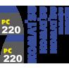 Комплект наклеек на Каматсу 220 - Kamatsu 220