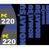 Комплект наклеек на Коматсу 220 - Komatsu 220