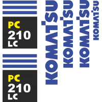 Комплект наклеек на Коматсу 210 ЛЦ - Komatsu 220 LC