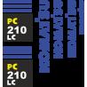 Комплект наклеек на Каматсу 210 ЛЦ - Kamatsu 220 LC