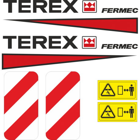 Комплект наклеек на трактор Терекс Фермец - Terex Fermec