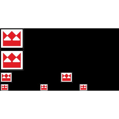 Комплект наклеек на технику TEREX - Терекс