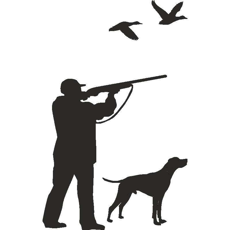 Открытка для, картинки охотник и собака черно белые
