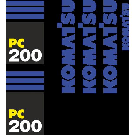 Комплект наклеек на Коматсу ПС 200 - Komatsu PC 200