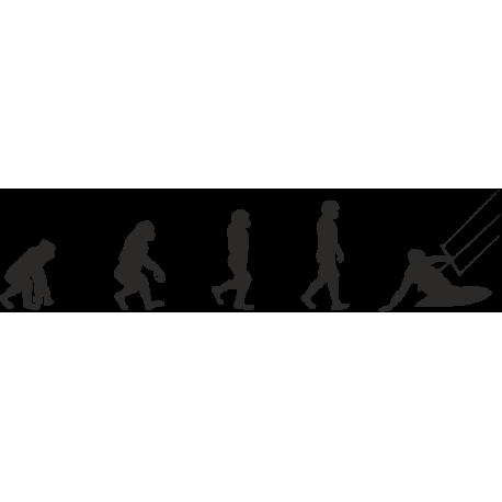 Эволюция от обезьяны до Кайтсерфера