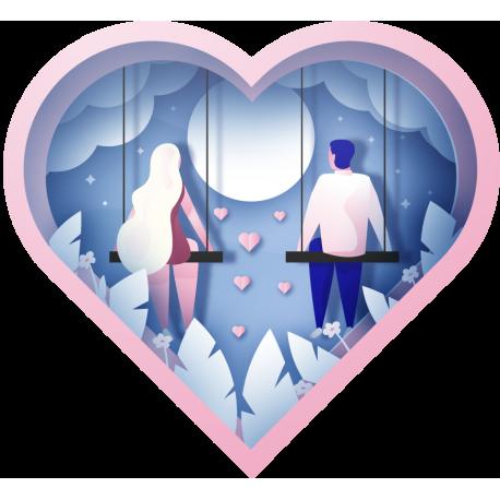 Сердце Влюбленных На День Святого Валентина 14 Февраля