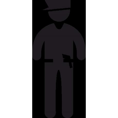 Полицейский с оружием
