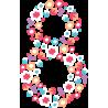 Цветочная Восьмерка на Международный Женский День