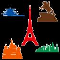 Силуэты и символика городов мира